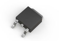 DPAK mosfet electronic transistor isolated on white 3d illustration