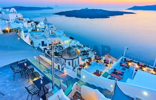 Evening in Santorini