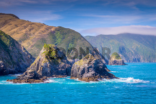 Cook Strait, New Zealand between the North and the South Island