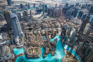 Burj Khalifa, Aussicht Besucherplattform, 452,2m, Dubai