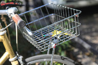 Close up bicycle with a Bicycle basket