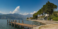 Village of Malcesine at Lake Garda,Verona Province,Italy