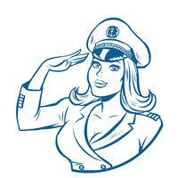 woman captain of a sea ship