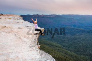 Sitting on the cliff edge feeling free