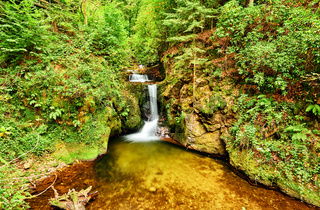 Geroldsau Waterfall in Schwarzwald, Germany