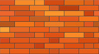 Realistic brick walls. Seamless brick background for design.