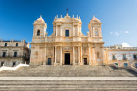 Ancient beautiful baroque cathedral in Noto