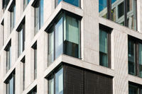 modern office building facade, commercial real estate exterior,