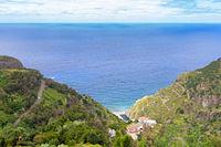 Coastal hiking path from Santana to Sao Jorge, Madeira