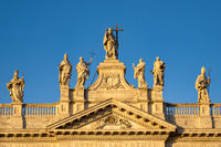 Statues on the facade of San Giovanni in Laterano