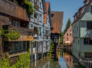 Fischer- und Gerberviertel in Ulm