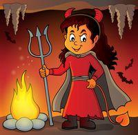 Girl in devil costume image 2