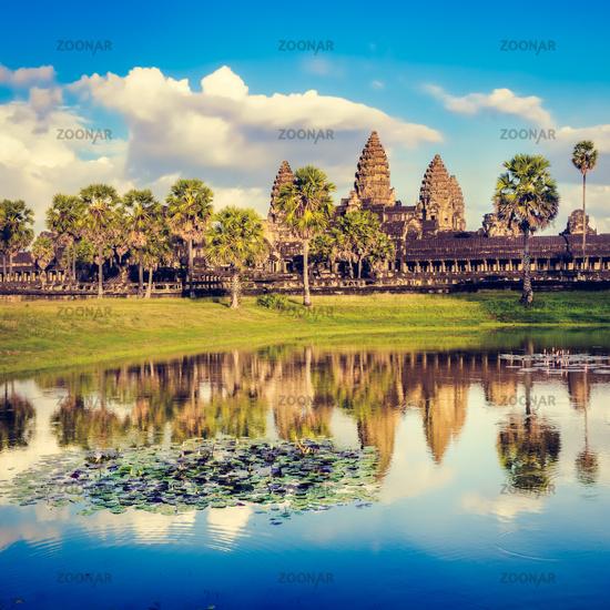 Angkor Wat temple at sunset. Siem Reap. Cambodia.