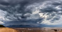 Dramatic Storm Clouds over sea