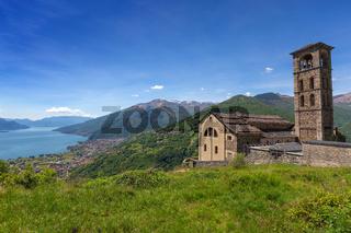 Old church near Como lake in Italy