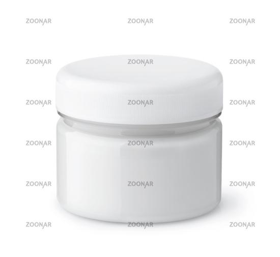 Glass jar of cosmetic cream