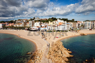 Blanes Town on Costa Brava in Spain