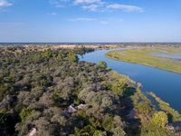 Okavango delta river in north Namibia, Africa