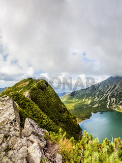 View from Krab in Tatra Mountains, Poland, Europe.