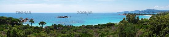 Panoramic view Palombaggia - Tamaricciu - Corsica