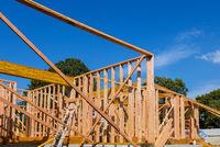 New house beam construction framing