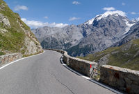 Road in the Alps Stilfser Joch Serpentines