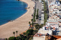 Beach and Sea in Resort Town of Blanes