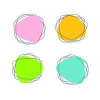 Pink, blue, yellow and green Stickers Stains
