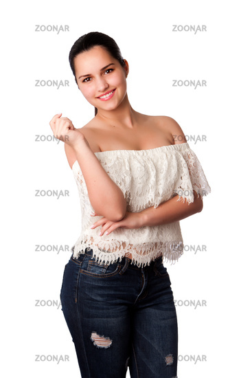 Beautiful happy woman portrait