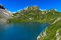 Mountain lake Iffigsee, Lenk, Switzerland