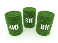 3D rendering barrel of biofuels