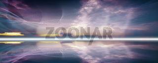 linien wellen bewegung horizont banner