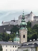 Salzburg - Hohensalzburg Fortress and collegiate church St. Peter, Austria