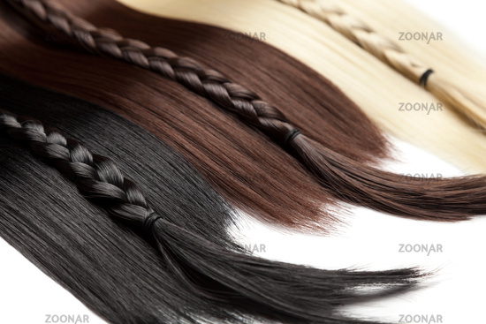 Closeup on luxurious straight glossy hair