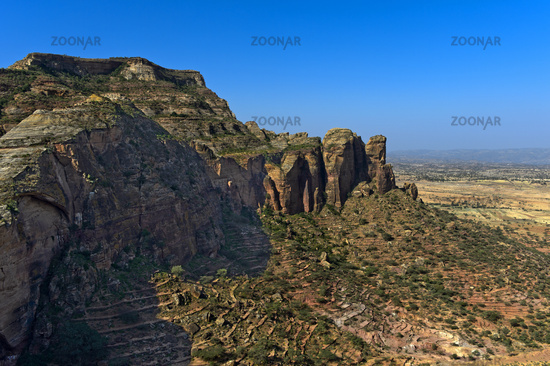 Gheralta Mountains, northern part of the East African Rift Valley, Hawzien, Tigray, Ethiopia