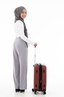 Muslim girl luggage