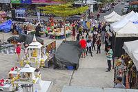 Blick über den Chillva Markt, Phuket, Thailand
