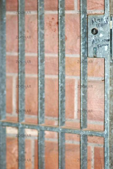 Iron gate close-up