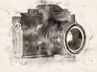 Watercolor analogue camera