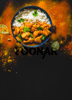 Indian butter chicken background