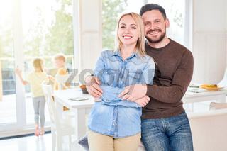 Happy Couple Posing at Home