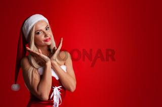 Woman santa claus costume