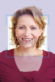 Gesichtserkennung durch KI zur Identifikation