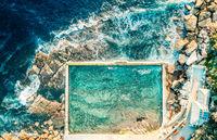 Rock pool on the coast of Sydney Australia