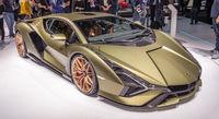 Lamborghini at a motor show
