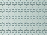 Star of David on a gray background