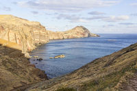 Landscape at Cape Ponta de Sao Lourenco on Madeira island, Portugal