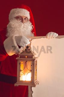 Santa Claus with lantern