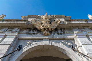Detail of the 4rd Gate of the Citadel Alba-Carolina in Alba Iulia, Romania, officially declared Capital of the Great Union of Romania