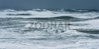 Storm waves in the Atlantic Ocean